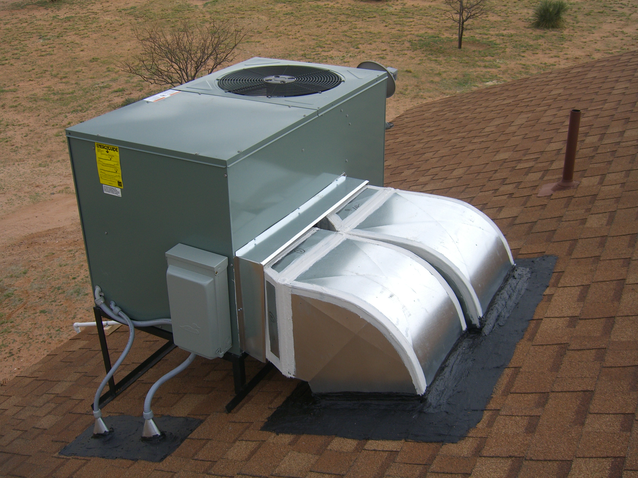 Rooftop Units Duct : In packaged rooftop unit rental no money down hvac
