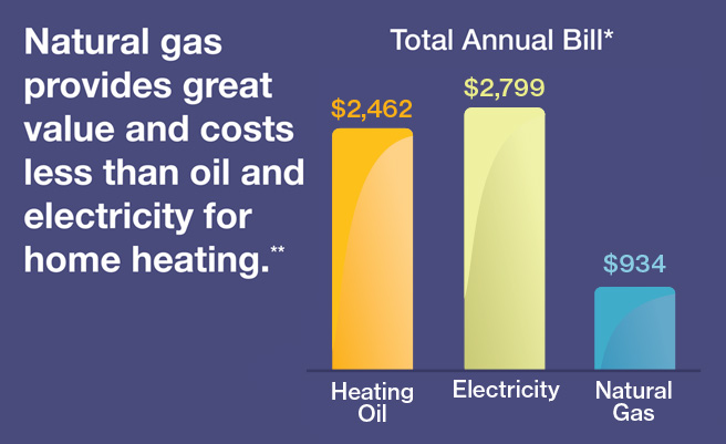 Heating With Natural Gas Cost