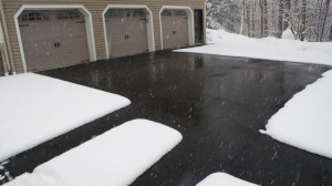 Radiant heated driveway.